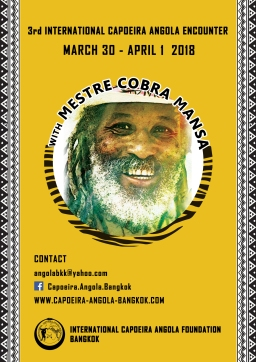 3rd International Capoeira Angola Encounter with Mestre Cobra Mansa | 30 March – 1 April 2018