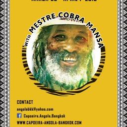 3rd International Capoeira Angola Encounter with Mestre Cobra Mansa | 30 March – 1 April 2018